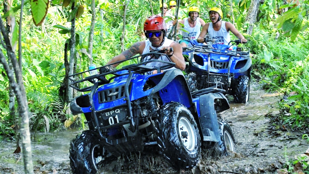 Bali ATV Quad Bike with Bedugul Lake Temple
