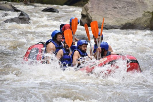 white water rafting with tanah lot sunset